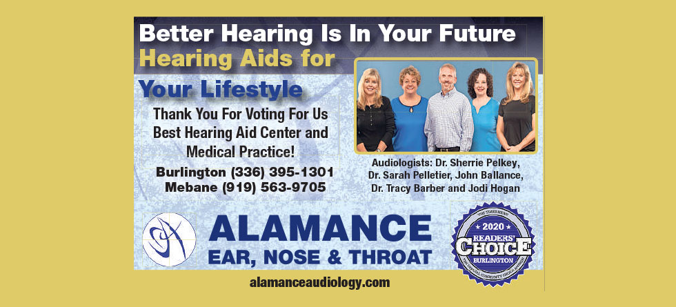 Award Banner - Burlington and Mebane, NC