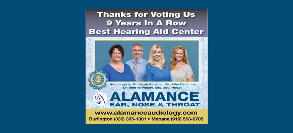 Voted for Best Hearing Aid Center - Alamance ENT